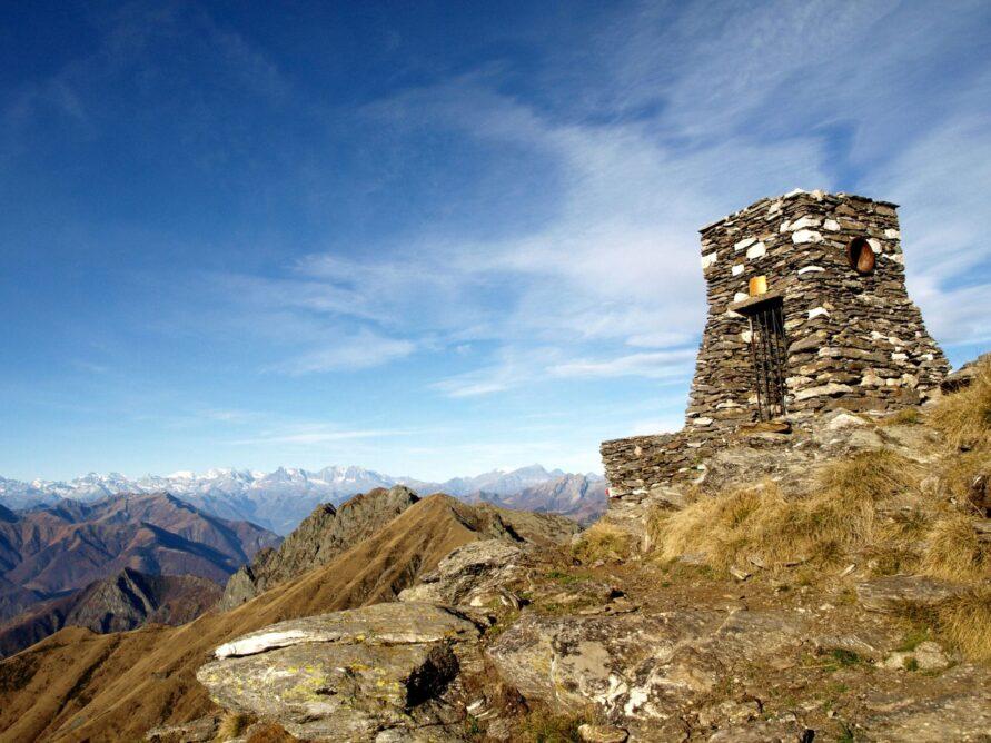 panorama creste alpine