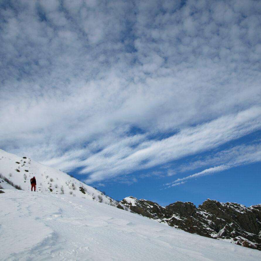 panorama montagna innevata